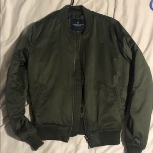 Green A&E bomber jacket